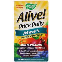 Alive! Раз в день, мультивитамины для мужчин, 60 таблеток - фото