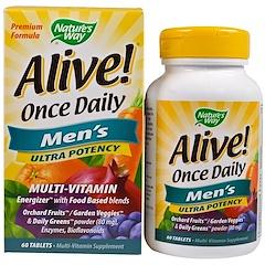 Nature's Way, Alive! 하루에 한 번, 남성을 위한 복합 비타민, 60 정