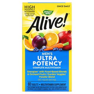 Nature's Way, Alive! Men's Ultra Potency Complete Multivitamin, 60 Tablets
