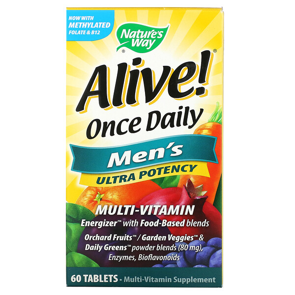 Alive! Once Daily, Men's Multi-Vitamin, 60 Tablets