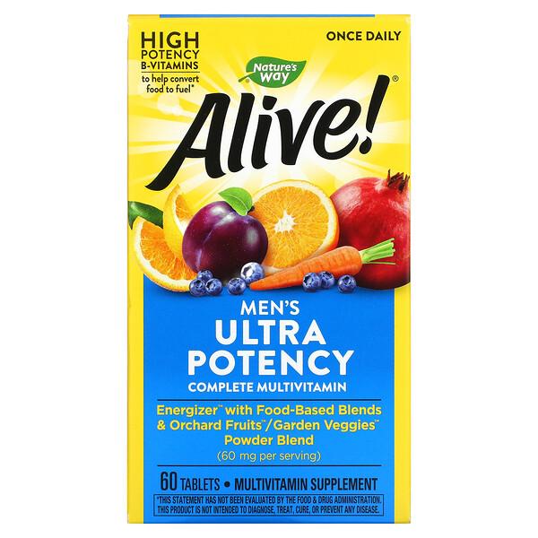 Alive! วิตามินรวมสูตรครบถ้วนประสิทธิภาพสูงพิเศษสำหรับผู้ชาย บรรจุ 60 เม็ด