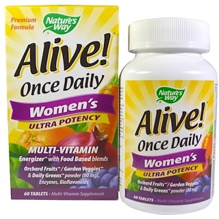 Nature's Way, ¡Vivo! Multivitamina para mujeres Once Daily Ultra Potencia, 60 Tabletas