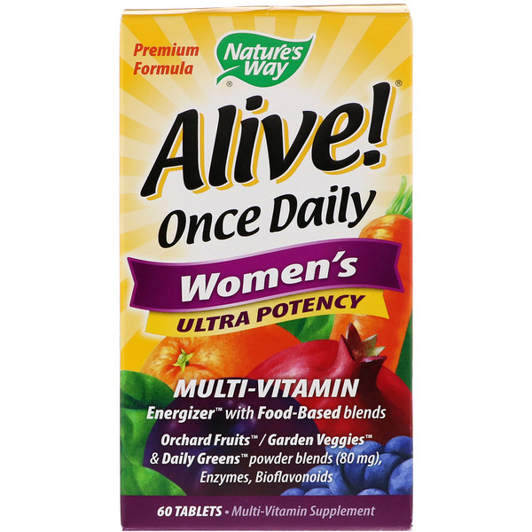 Nature's Way, Alive! Multivitamina para mujer, dosis diaria, ultra potencia, 60 tabletas
