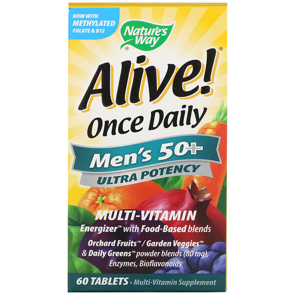 Alive! Once Daily, Men's 50+ Multi-Vitamin, 60 Tablets