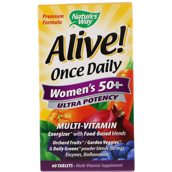 Nature's Way, Alive! Once Daily, Women's 50+ Multi-Vitamin, 60 Tablets