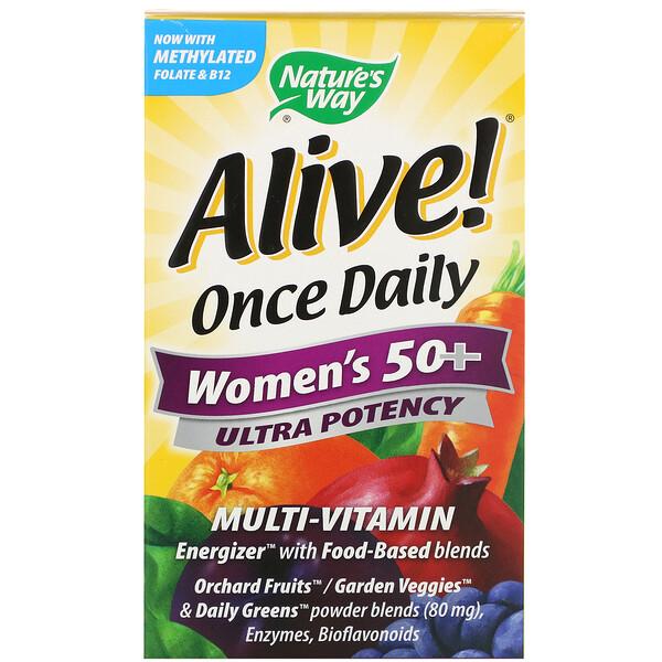 Alive! Once Daily, para mujeres mayores de 50 años + multivitamínico, 60 tabletas