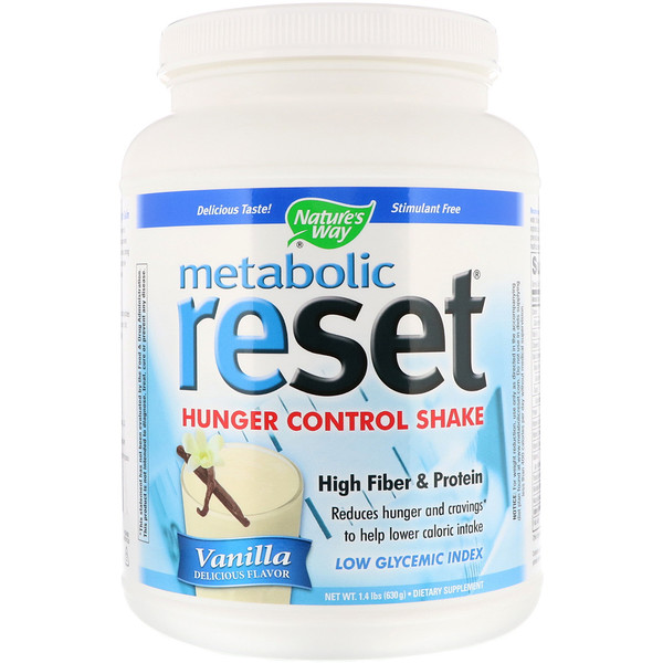 Nature's Way, Metabolic Reset, Hunger Control Shake, Vanilla, 1.4 lbs (630 g) (Discontinued Item)