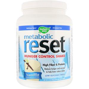 Натурес Вэй, Metabolic Reset, Hunger Control Shake, Vanilla, 1.4 lbs (630 g) отзывы покупателей