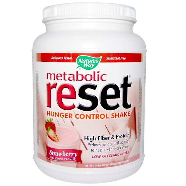 Nature's Way, Metabolic Reset Hunger Control Shake, Strawberry, 1.4 lbs (622 g) (Discontinued Item)