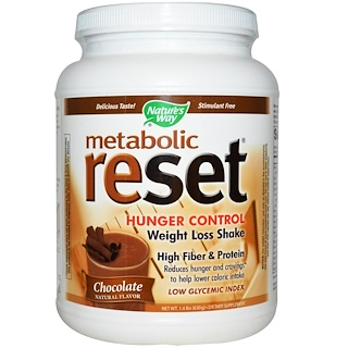 Nature's Way, Metabolic Reset Hunger Control Weight Loss Shake, Powder, Chocolate, 1.4 lbs (630 g)
