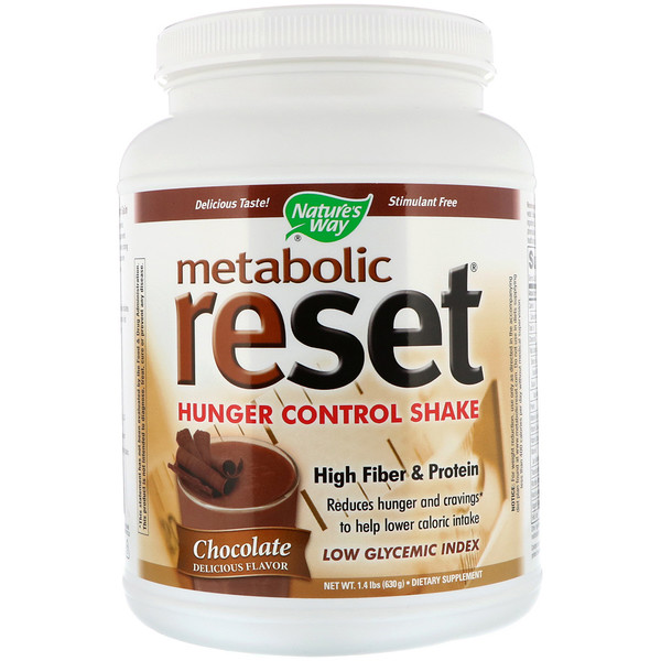 Nature's Way, Metabolic Reset Hunger Control Shake, Chocolate, 1.4 lbs (630 g)