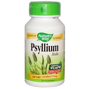 Натурес Вэй, Psyllium Husks, 525 mg, 100 Veggie Caps отзывы