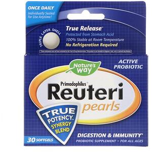Натурес Вэй, Primadophilus Reuteri Pearls, 30 Softgels отзывы покупателей