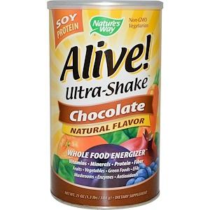 Натурес Вэй, Alive! Ultra-Shake, Soy Protein, Chocolate, 1.3 lbs (584 g) отзывы