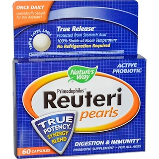 Nature's Way, Primadophilus Reuteri Pearls, 60 Capsules