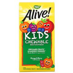 Nature's Way, Alive! 兒童多維生素咀嚼片,橙子漿果味,120 片咀嚼片