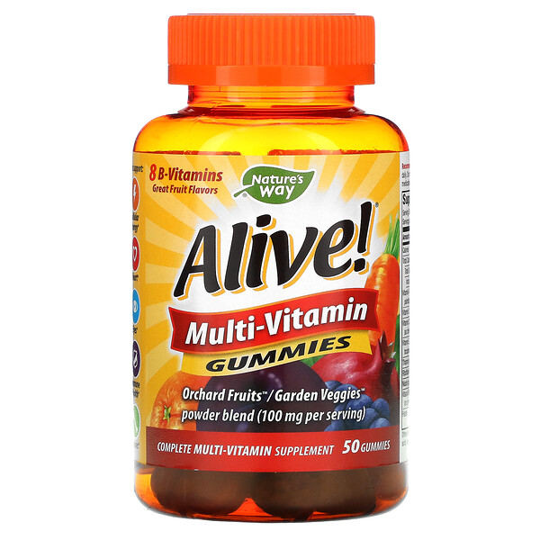 Alive! Multi-Vitamin Gummies, Great Fruit, 50 Gummies