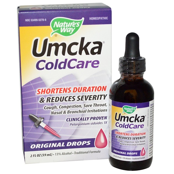 Nature's Way, Umcka, ColdCare, Original Drops, 2 fl oz (59 ml)