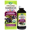 Nature's Way, Organic Sambucus for Kids, Standardized Elderberry, Berry Flavor, 4 fl oz (120 ml)