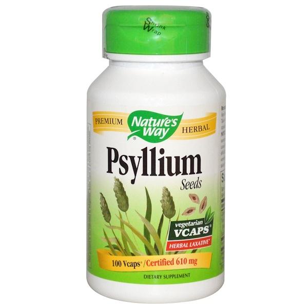 Nature's Way, Psyllium Seeds, 610 mg, 100 Vcaps (Discontinued Item)