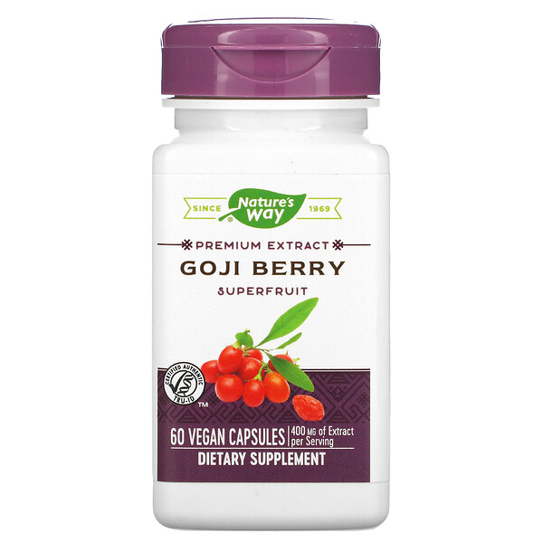 Nature's Way, Goji Berry, 400 mg, 60 Vegan Capsules (Discontinued Item)