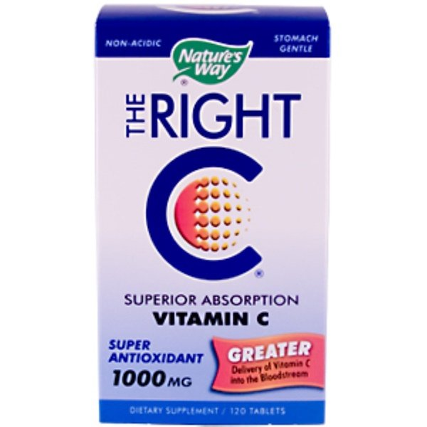 Nature's Way, The Right C, Superior Absorption Vitamin C, 1,000 mg, 120 Tablets (Discontinued Item)