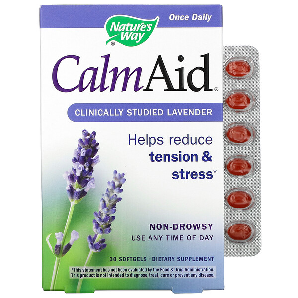 CalmAid, Clinically Studied Lavender, 30 Softgels