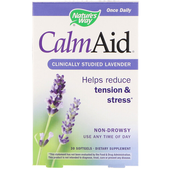 :Nature's Way, CalmAid, Clinically Studied Lavender, 30 Softgels