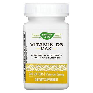 Nature's Way, Vitamin D3, 125 mcg, 240 Softgels
