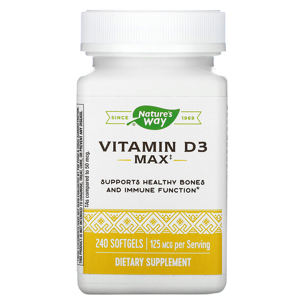 Vitamin D3, 125 mcg, 240 Softgels