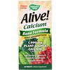 Alive!, Кальций, Формула для здоровья костей, 1 000 мг, 60 таблеток