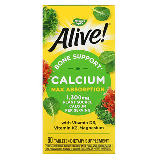 Nature's Way, Alive!, Calcium, Max Absorption, 325 mg, 60 Tablets