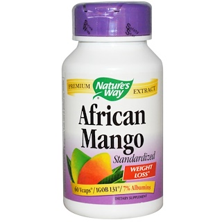 Nature's Way, African Mango, Standardized, 60 Veggie Caps