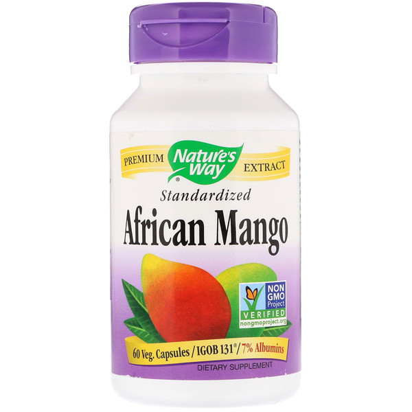 Nature's Way, African Mango, Standardized, 60 Veg.Capsules (Discontinued Item)