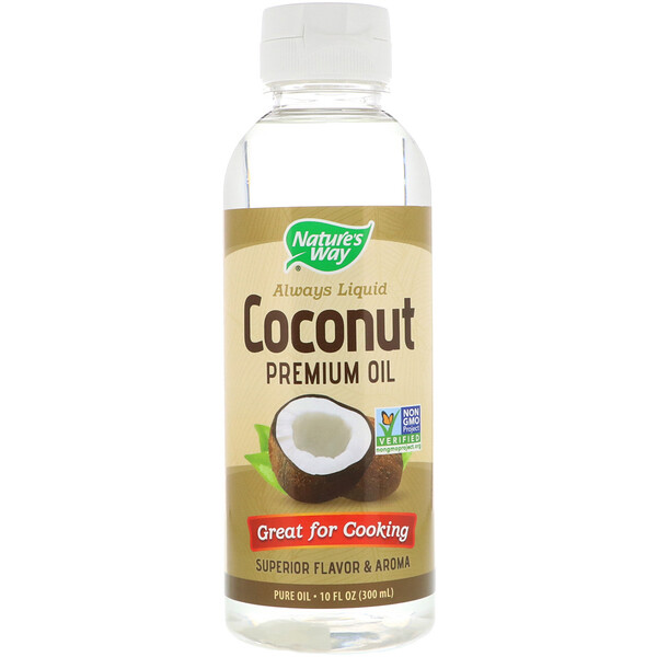 Nature's Way, Aceite de coco líquido prémium, 300 ml (10 oz. líq.)
