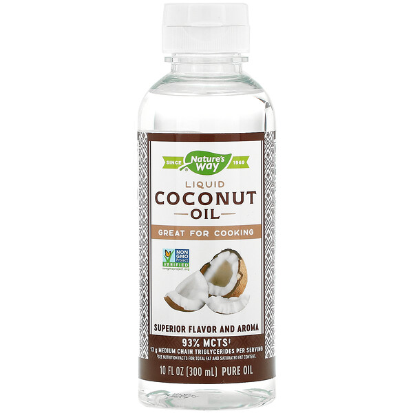 Liquid Coconut Oil, 10 fl oz (300 ml)