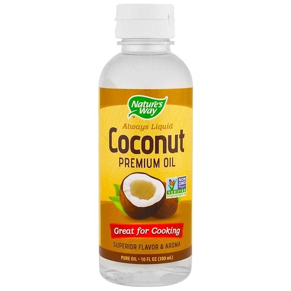 Nature's Way, 液体ココナツプレミアムオイル、 10液量オンス (296 ml)