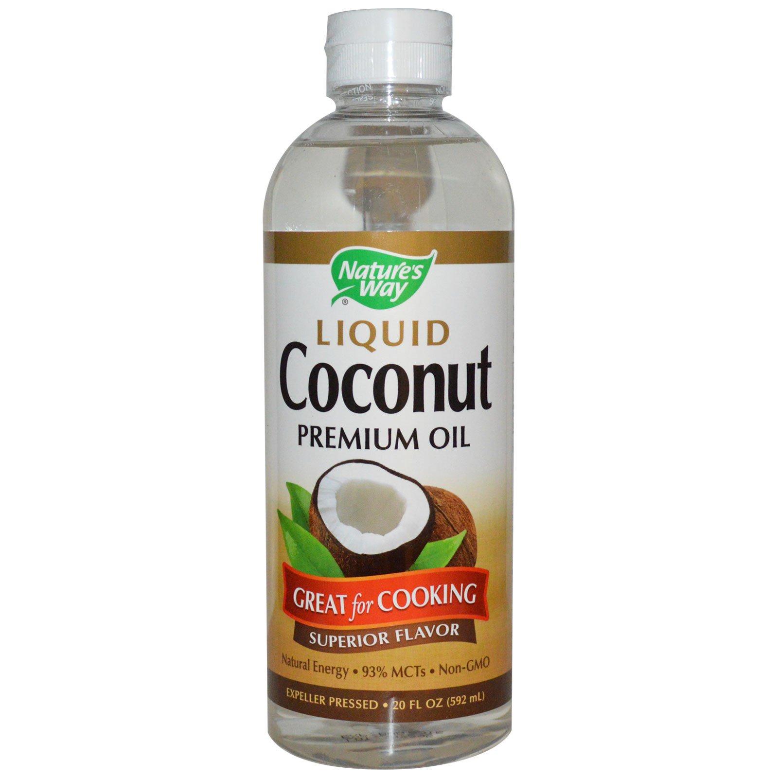 Nature's Way, Жидкий кокос, высококачественное масло, 20 жидких унций (592 мл)