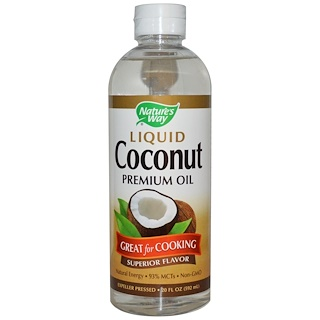 Nature's Way, Liquid Coconut, Premium Oil, 20 fl oz (592 ml)
