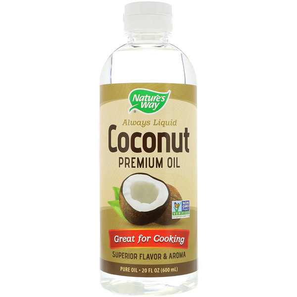 Nature's Way, Liquid Coconut Premium Oil, 20 fl oz (600 ml) (Discontinued Item)