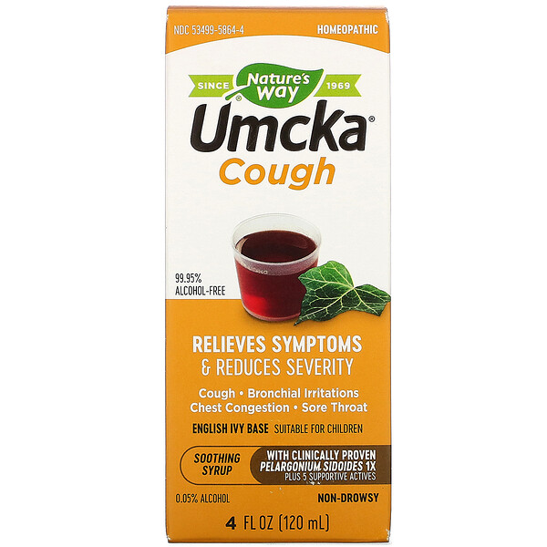 Umcka, Cough, Soothing Syrup, 4 oz (120 ml)