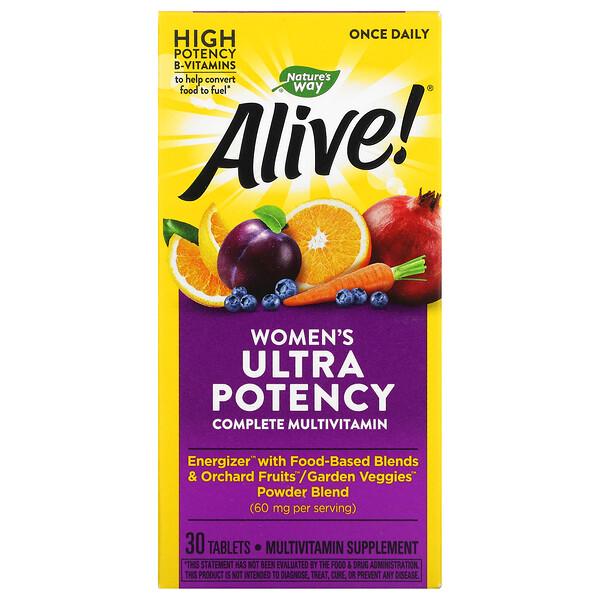 Alive! Women's Ultra Potency Complete Multi-Vitamin, 30 Tablets
