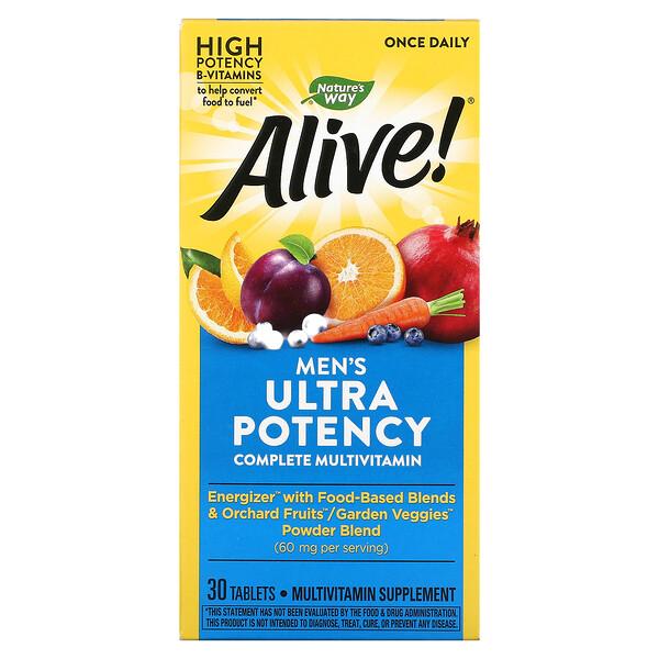 Alive! Men's Ultra Potency Complete Multivitamin, 30 Tablets