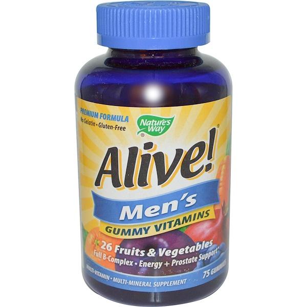 Nature's Way, Alive! Men's Vitamins, 75 Gummies