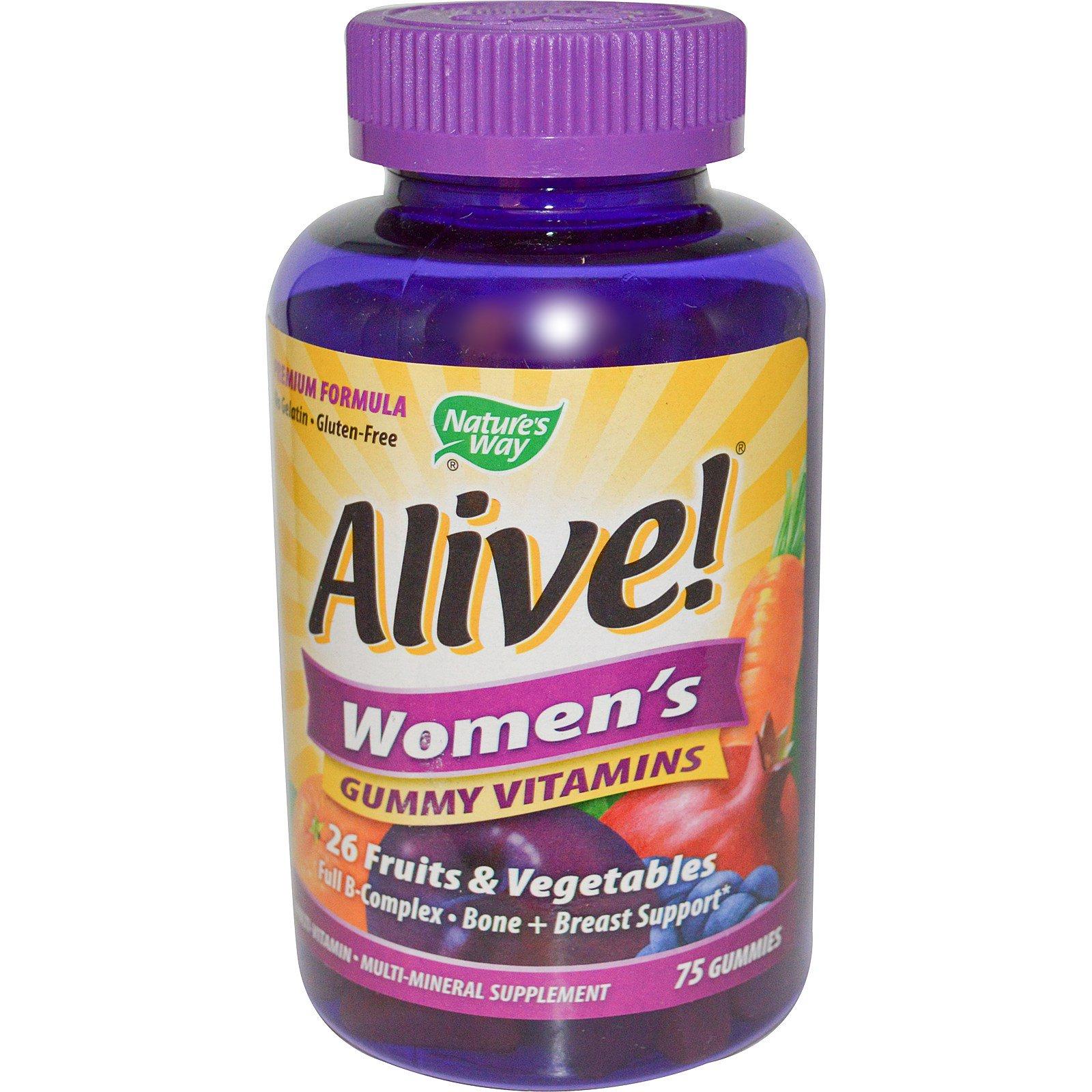 Nature's Way, Alive! Женские жевательные витамины, 75 жевательных мармеладок
