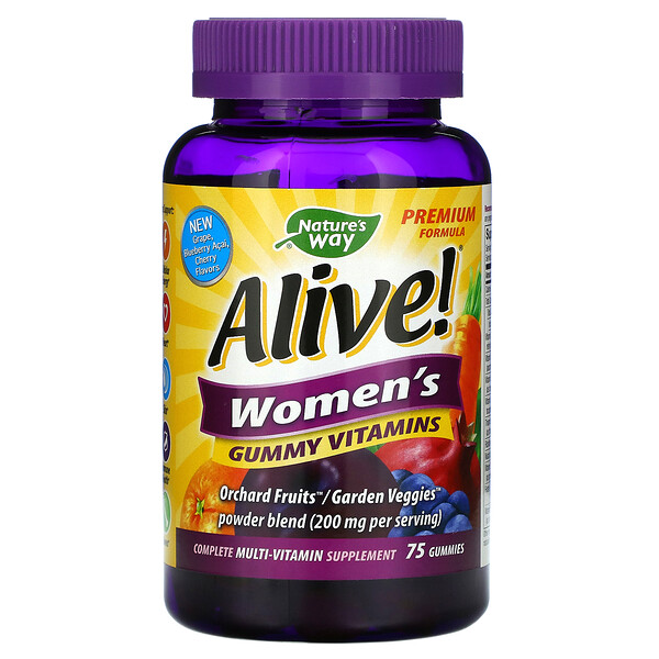 Nature's Way, Alive! Women's Vitamins, 75 Gummies