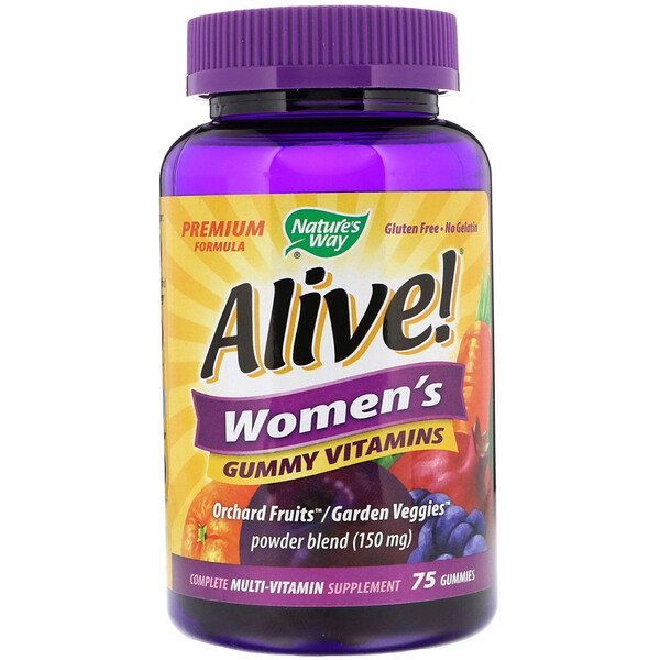 Nature's Way, Alive! Vitaminas femininas, 75 Gomas