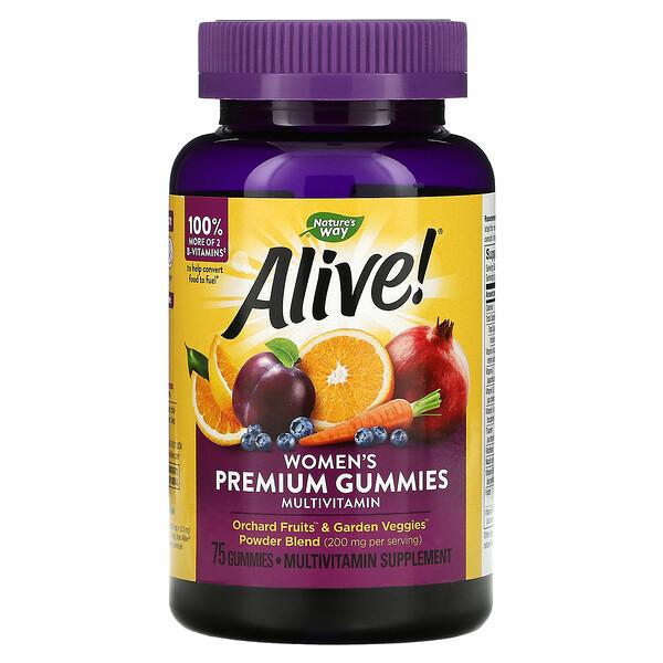 Nature's Way, Alive! Women's Premium Gummies, Multiitamin, 75 Gummies