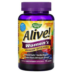 Натурес Вэй, Alive! Women's Vitamins, 75 Gummies отзывы