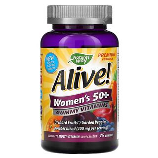 Nature's Way, Alive! - Gominolas de Vitaminas para Mujeres 50+, 75 Gominolas